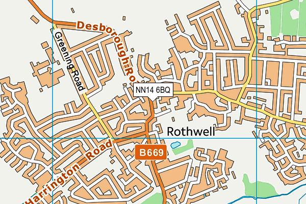 NN14 6BQ map - OS VectorMap District (Ordnance Survey)