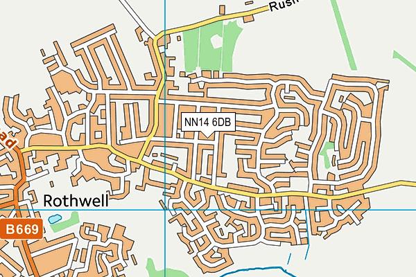 NN14 6DB map - OS VectorMap District (Ordnance Survey)
