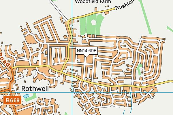 NN14 6DF map - OS VectorMap District (Ordnance Survey)