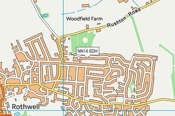 NN14 6DH map - OS VectorMap District (Ordnance Survey)