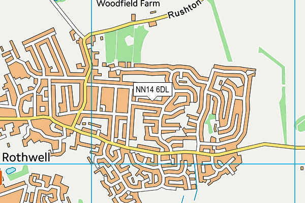 NN14 6DL map - OS VectorMap District (Ordnance Survey)