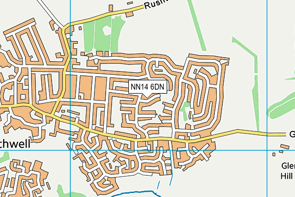 NN14 6DN map - OS VectorMap District (Ordnance Survey)