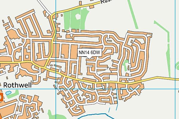 NN14 6DW map - OS VectorMap District (Ordnance Survey)