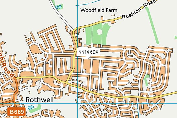 NN14 6DX map - OS VectorMap District (Ordnance Survey)