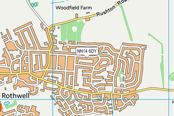 NN14 6DY map - OS VectorMap District (Ordnance Survey)