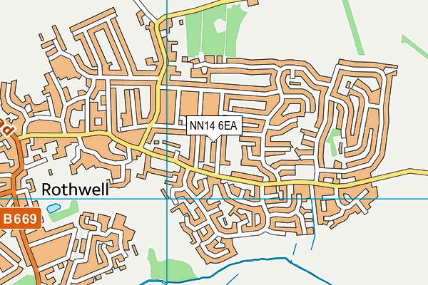 NN14 6EA map - OS VectorMap District (Ordnance Survey)