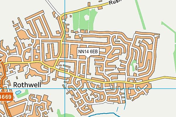 NN14 6EB map - OS VectorMap District (Ordnance Survey)