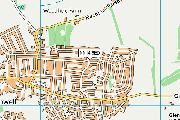 NN14 6ED map - OS VectorMap District (Ordnance Survey)