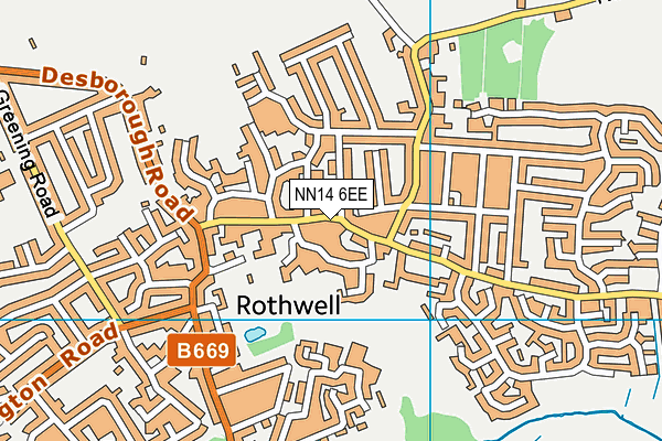 NN14 6EE map - OS VectorMap District (Ordnance Survey)