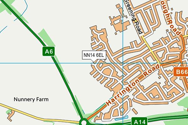 NN14 6EL map - OS VectorMap District (Ordnance Survey)