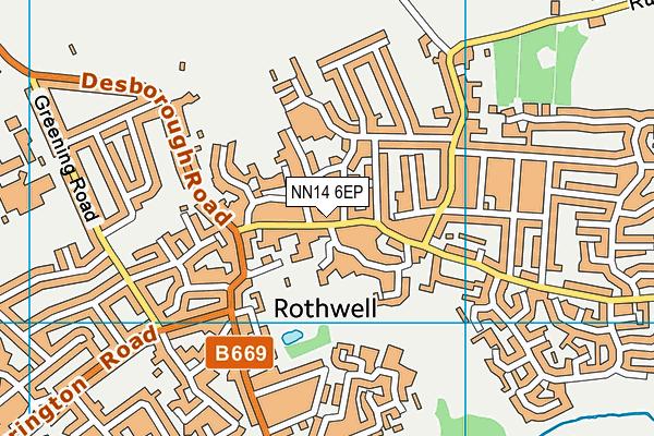 NN14 6EP map - OS VectorMap District (Ordnance Survey)
