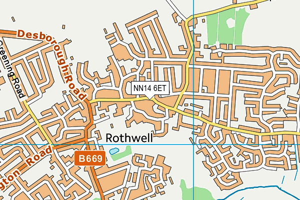 NN14 6ET map - OS VectorMap District (Ordnance Survey)