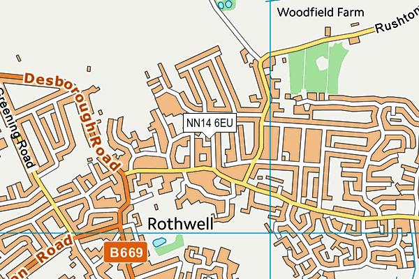 NN14 6EU map - OS VectorMap District (Ordnance Survey)