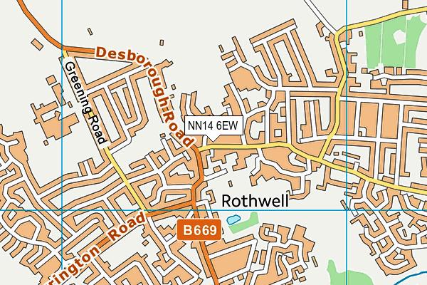 Steps Fitness Club (Closed) map (NN14 6EW) - OS VectorMap District (Ordnance Survey)