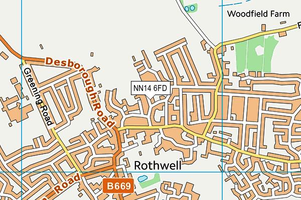 NN14 6FD map - OS VectorMap District (Ordnance Survey)
