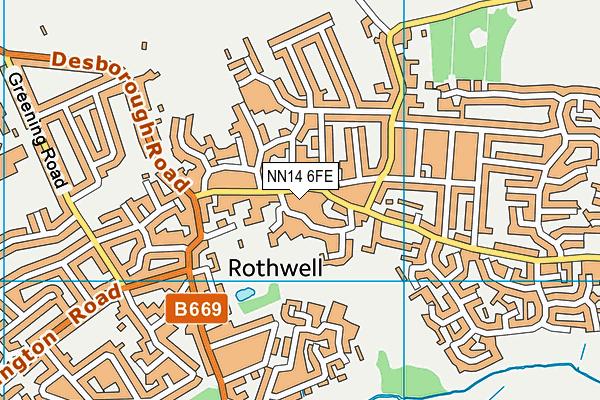 NN14 6FE map - OS VectorMap District (Ordnance Survey)