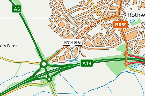 NN14 6FG map - OS VectorMap District (Ordnance Survey)