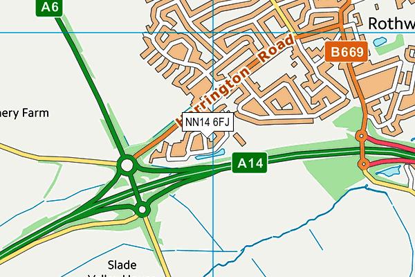 NN14 6FJ map - OS VectorMap District (Ordnance Survey)