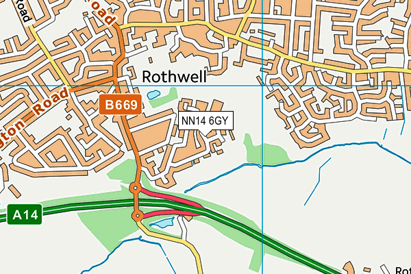 NN14 6GY map - OS VectorMap District (Ordnance Survey)