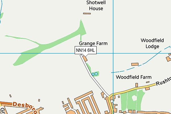 NN14 6HL map - OS VectorMap District (Ordnance Survey)