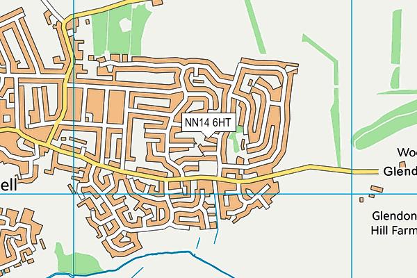 NN14 6HT map - OS VectorMap District (Ordnance Survey)