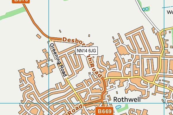 NN14 6JG map - OS VectorMap District (Ordnance Survey)