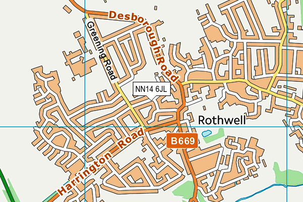 NN14 6JL map - OS VectorMap District (Ordnance Survey)