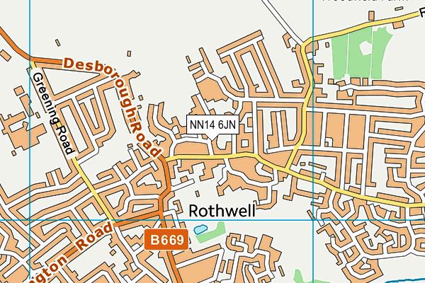NN14 6JN map - OS VectorMap District (Ordnance Survey)