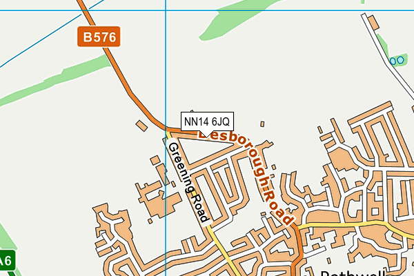 NN14 6JQ map - OS VectorMap District (Ordnance Survey)