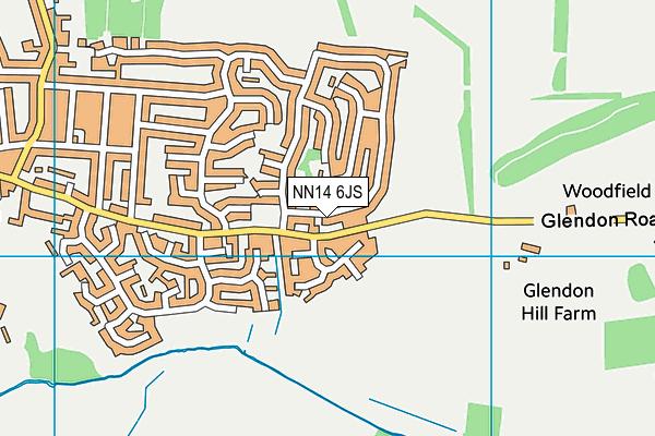 NN14 6JS map - OS VectorMap District (Ordnance Survey)