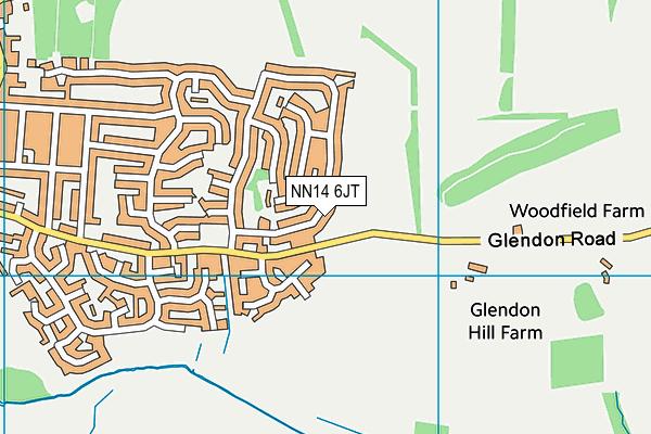 NN14 6JT map - OS VectorMap District (Ordnance Survey)