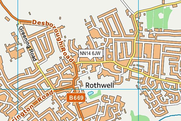 NN14 6JW map - OS VectorMap District (Ordnance Survey)