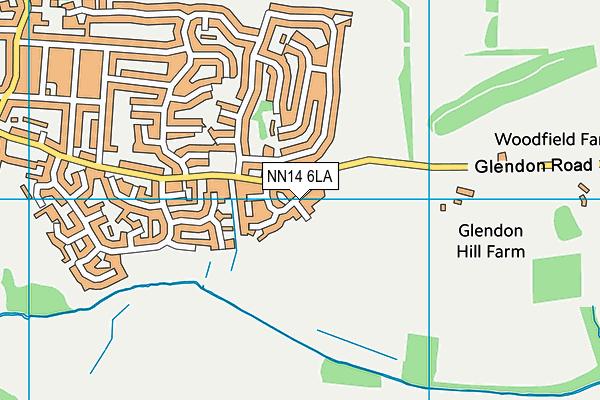 NN14 6LA map - OS VectorMap District (Ordnance Survey)