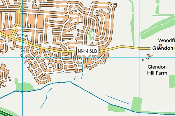 NN14 6LB map - OS VectorMap District (Ordnance Survey)