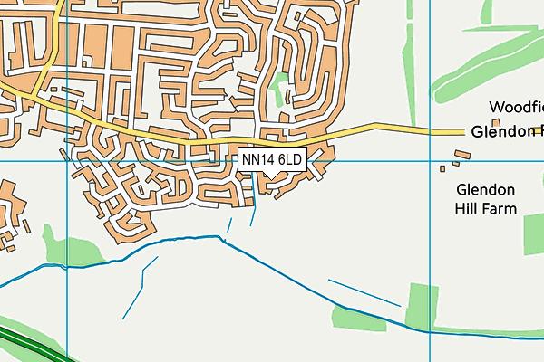 NN14 6LD map - OS VectorMap District (Ordnance Survey)