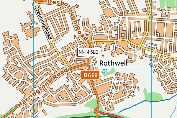 NN14 6LE map - OS VectorMap District (Ordnance Survey)