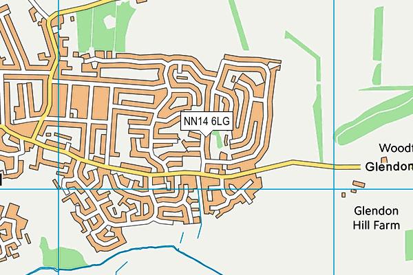 NN14 6LG map - OS VectorMap District (Ordnance Survey)