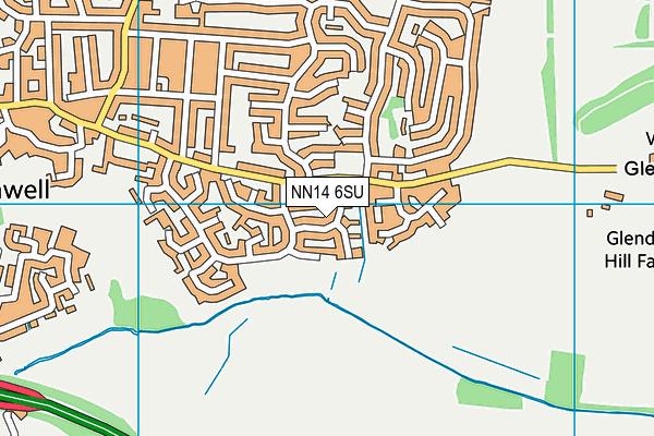 NN14 6SU map - OS VectorMap District (Ordnance Survey)