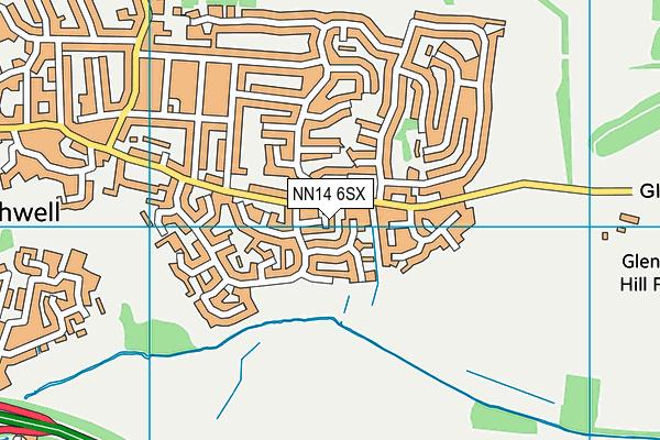 NN14 6SX map - OS VectorMap District (Ordnance Survey)