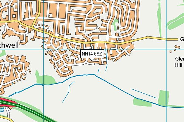 NN14 6SZ map - OS VectorMap District (Ordnance Survey)