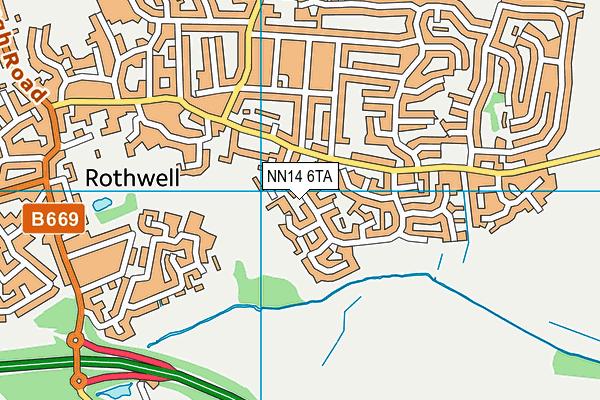 NN14 6TA map - OS VectorMap District (Ordnance Survey)