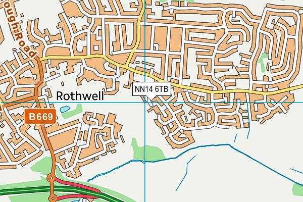 Well Lane Recreation Ground map (NN14 6TB) - OS VectorMap District (Ordnance Survey)