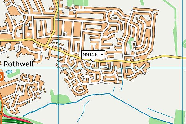 NN14 6TE map - OS VectorMap District (Ordnance Survey)