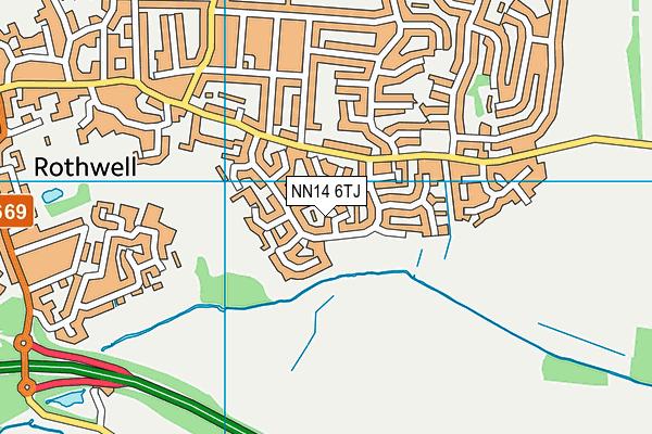 NN14 6TJ map - OS VectorMap District (Ordnance Survey)