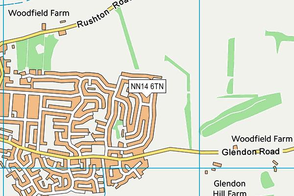 NN14 6TN map - OS VectorMap District (Ordnance Survey)