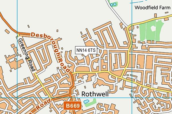 NN14 6TS map - OS VectorMap District (Ordnance Survey)