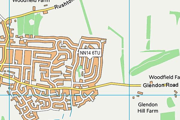 NN14 6TU map - OS VectorMap District (Ordnance Survey)