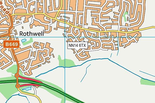 NN14 6TX map - OS VectorMap District (Ordnance Survey)