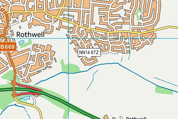 NN14 6TZ map - OS VectorMap District (Ordnance Survey)
