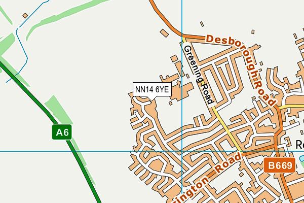 NN14 6YE map - OS VectorMap District (Ordnance Survey)